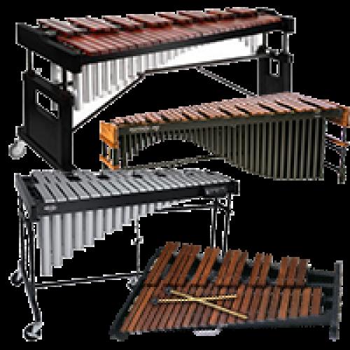 Ксилофони, вібрафони, маримби, металофони Не зазначено