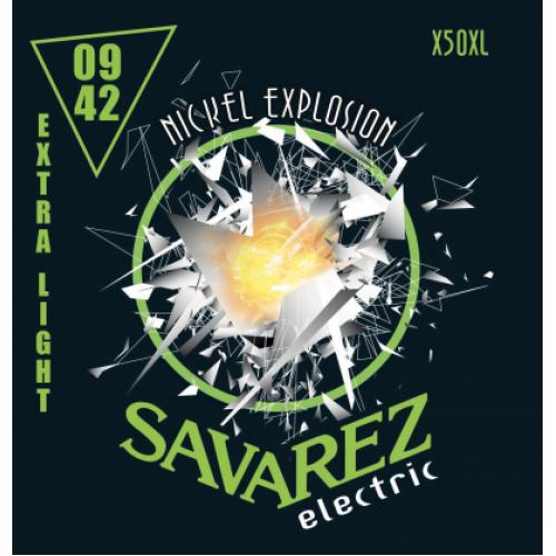 Струни для електрогітари Savarez X50 XL Extra Light Tension