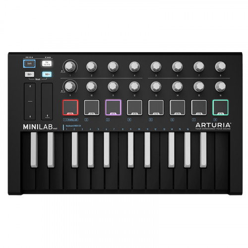 New version of the famous Arturia controller: MiniLab MkII Inverted