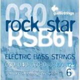 Струни для бас-гітари  Galli Rock Star RSB61 (30-125) Nickel 6-Strings Long Scale Light