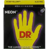 Electric guitar strings DR NYE-9/42 NEON Hi-Def (9-42) Lite-n-Heavy