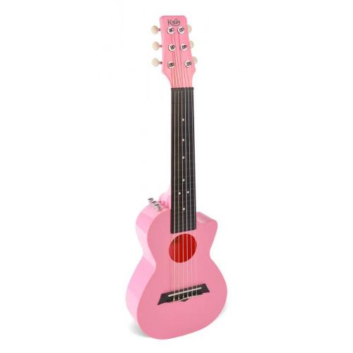 Електроакустична тревел гітара (гітарлеле) Korala PUG-40E-PK (Рожевий)