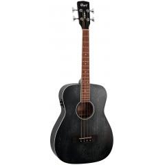 Акустична бас-гітара Cort AB590MF (Black Open Pore) + чохол