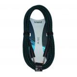 Інструментальний кабель Bespeco RA600 Чорний/зелений