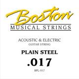 Струна для акустичної або електрогітари Boston BPL-017