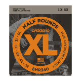 Струни для електрогітари D'addario XL Half Rounds EHR340 LIGHT TOP/ HEAVY BOTTOM 10-52