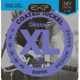 Electric guitar strings D'addario EXP COATED EXP115 Blues/Jazz Rock, (11 - 49)