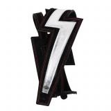 Guitar Strap D'Addario 25LNBT00 Lightning Bolt Suede Guitar Strap (Silver)