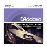 Струны для банджо  D`ADDARIO EJ57 BANJO NICKEL CUSTOM MEDIUM 5 STRING 11-22