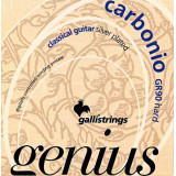 Classical guitar Strings Galli Genius Carbonio PROcoated GR90 (24-45) Hard Tension